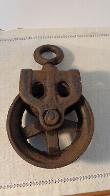 antique/vintage cast iron Industrial pulley, In nice condition!!!