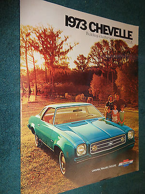 1973 Chevrolet Chevelle / Malibu Sales Brochure Original Dealer Catalog