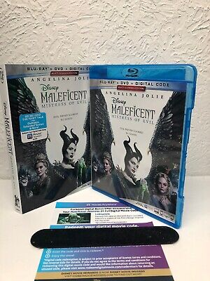 Maleficent Mistress of Evil Blu Ray + Digital HD (NO DVD INCLUDED) Please Read