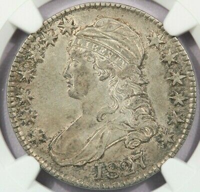 1827 Capped Bust Half Dollar NGC XF40 Looks AU