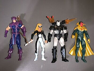 Marvel Universe West Coast Avengers Action Figure Lot Hawkeye War Machine Vision
