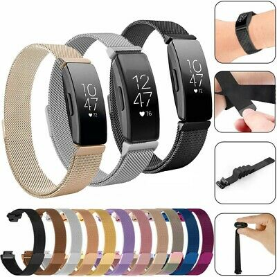 For Fitbit Inspire / HR Watch Replacement Strap Milanese Stainless Magnetic Band