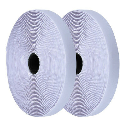2Pcs White 20mm Sticky Back Self Adhesive Hook And Loop Tape Fastener Tape Good