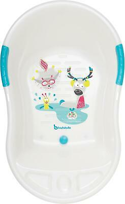 Badabulle FUN ERGONOMIC BABY BATHTUB - WHITE Toddler Child Bath Time BN