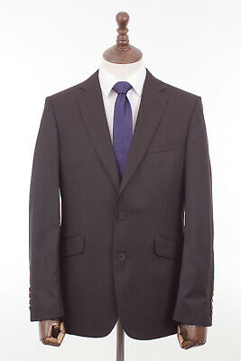 Men's Black Suit Tailored Fit Limehaus 40R W40 L31