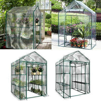 3 4 Tier Greenhouse Bag Garden Outdoor Plant Cover Clear PVC Plastic Growbag Box