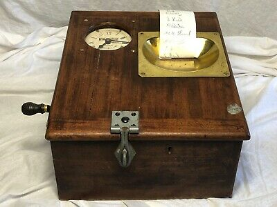 1 Old Vintage Pryotime Systems Mechanical Industrial Clocking In Time Recorder