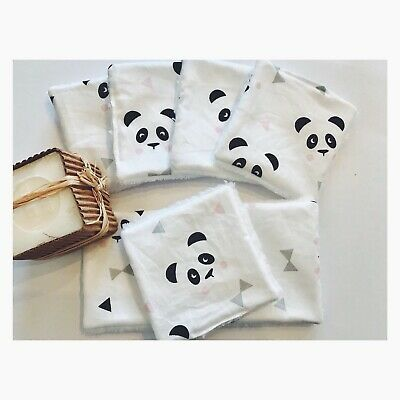 ** Lingettes  demaquillantes Lavables Panda 🐼 Lot De 7 **