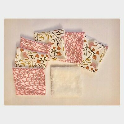 ** Lingettes  demaquillantes Lavables Rose Lot De 7 **