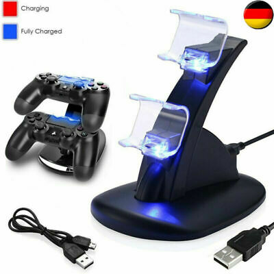 DE PS4 Playstation4 Ladestation Dockingstation USB Dual-Controller Ladegerät LED