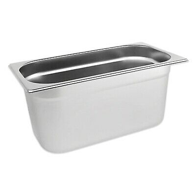 STAINLESS STEEL PAN POT CONTAINER GASTRONORM 1/3 SIZE 150mm DEPTH BAIN MARIE
