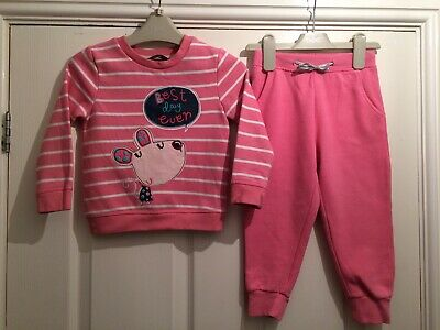 Girls Cute Jogger Suit Aged 2-3 Years