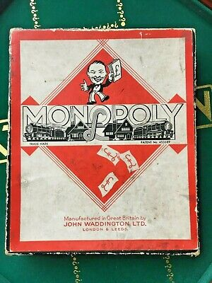 1940 UK Wartime version Monopoly Board Game COMPLETE with Board & Metal Tokens