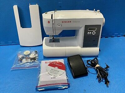 Singer Brilliance 6199 Sewing Machine, Foot Controller, Manual + Extension Table
