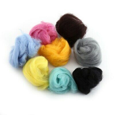 33 Colors Wool Fibre Roving For Needle Felting Hand Spinning DIY Kit Gift