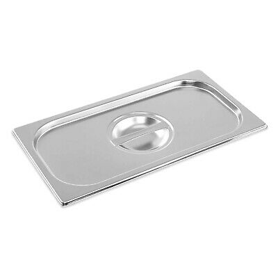 Stainless Steel Container Lid Gastronorm 1/3 Size Bain Marie Food Pan Pot Tray