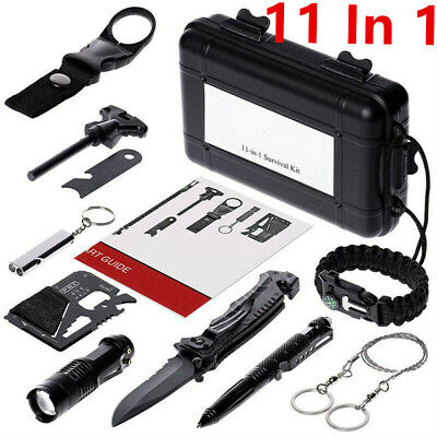 11 in 1 Outdoor Camping Survival Gear Kits SOS EDC Self Defense Emergency Kit