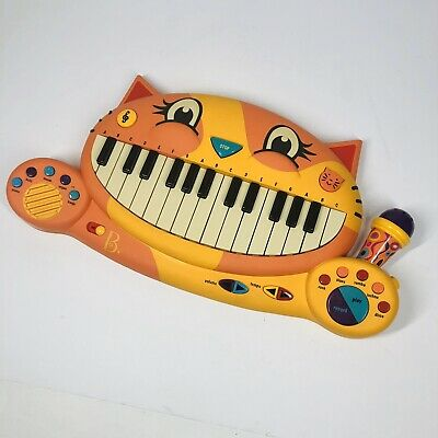 B. toys Meowsic Toy Cat Piano Children's Keyboard w/ Microphone & Recording (T)