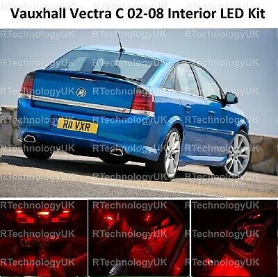 Red Premium Vauxhall Vectra C Mk2 02-08 Led Light Interior Upgrade Kit Vxr Sri