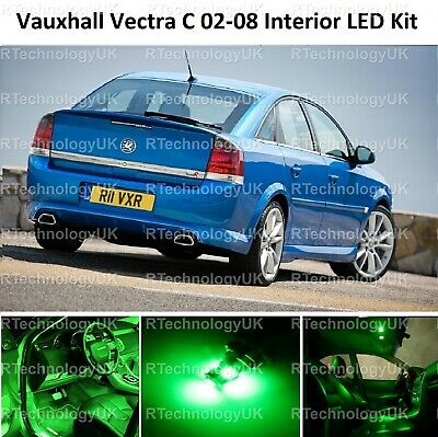 Green Premium Vauxhall Vectra C Mk2 02-08 Led Light Interior Upgrade Kit Vxr Sri