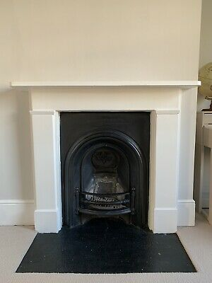 Antique Cast Iron Victorian Fireplace