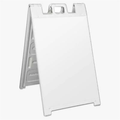 Plasticade Deluxe Signicade Double-Sided Sign Stand, White (Open Box)