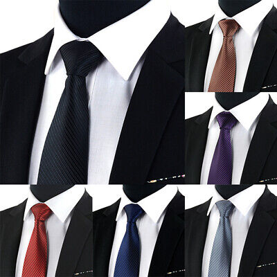Jacquard Woven New Fashion Classic Striped Tie Men's Silk Suits Ties Necktie  Nd