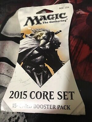 1x Magic the Gathering (MTG) 2015 Core Set New Sealed Booster Pack