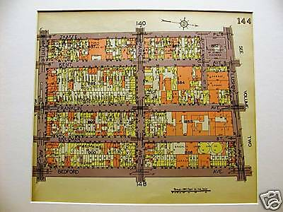 Brooklyn Map 1929 FT GREENE MYRTLE BEDFORD FLUSHING AVE Matted