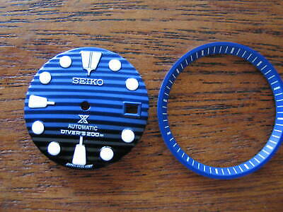 BLUE Ocean DIAL & Chapter Ring made for SEIKO DIVER 7002 Automatic New
