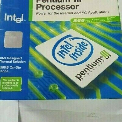 2 X Intel Pentium III Slot 1 Sealed NEW IN BOX  866 MHz / 133 MHZ includes fan