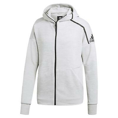 adidas ZNE FAST RELEASE HOODIE FULL ZIP COMFY GYM ACTIVE CLIMALITE GREY MEN'S
