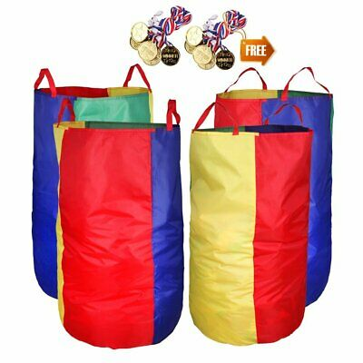 """Potato Sack Race Bags 34""""Hx17""""W(Pack Of 4) With Game Prizes(12Pcs) For Children"""