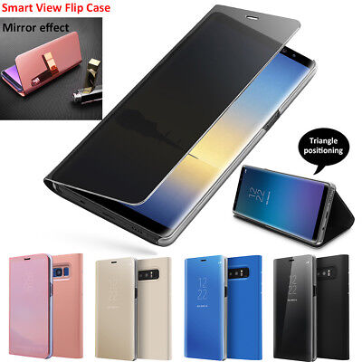 Slim Cover Luxury Mirror Flip Case Protector for Samsung Galaxy S9+ S8 / Note 8