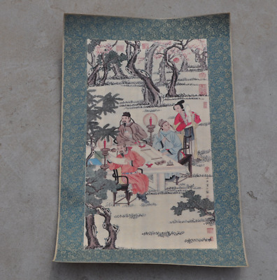Fine Old Chinese Painting beautiful ancients man and woman painting /Wa02