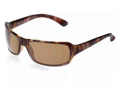 LENSES ONLY!! Ray ban RB4075 Solid Brown Non-Polarized Lenses ONLY