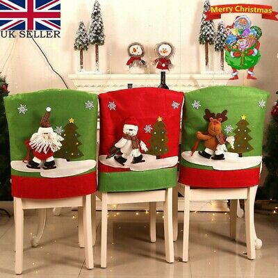 10x Christmas Chair Back Cover Santa Claus Party Dinner Table Decoration HOPE