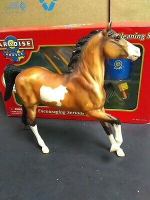 PARADISE 6 Piece Stable Cleaning Set Never Opened  with  pre-owned Breyer horse.