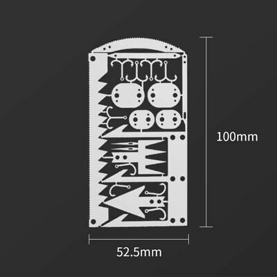 22in1 Camping Survival Card Pocket Multitool Knife Tactical Hunting Wallet Thin