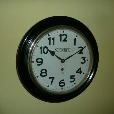 "12"" dial 8 day office wall clock - good condition & working order"