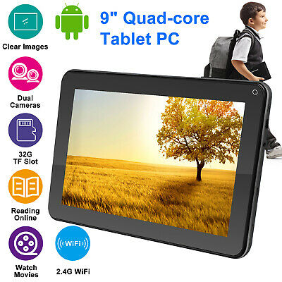 "9"" Inch Android Quad Core 8GB Tablet PC Wifi HD Dual Camera Kids Students Tablet"
