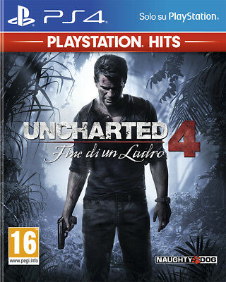 Video Game PS4 Uncharted 4: Fine of Un Thief - Ps Hits New Sony PLAYSTATION 4