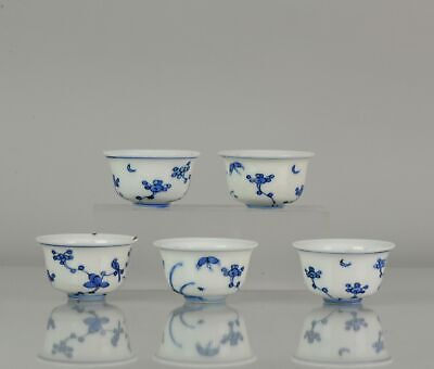 Rare! Antique Chinese 16/17 c Ming Dynasty Set Of Tea Bowls China Porcelain