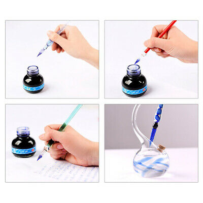 Charm Glass-Drip Fountain Pen Vintage Dip Pen Signature Filling Ink Wedding Gift