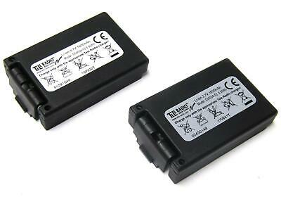 2x New Teleradio D00004-02 Li-ion 3.7V 1600 Mah Rechargeable Replacement Battery