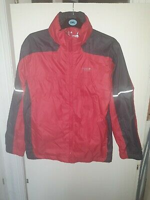 "Regatta Red Lightweight Waterproof Jacket Size 34"" Height 163cm"