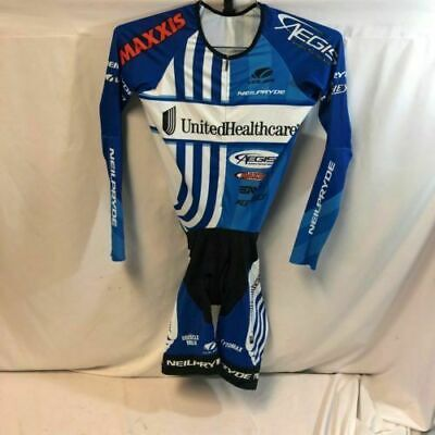 Blue//White Size S New Men/'s 2016 Vermarc UHC Pro Cycling SS Pocketed Skinsuit