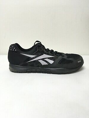 Men's Reebok CrossFit Nano 2.0 J94326 Black Zinc Grey Size 9.5