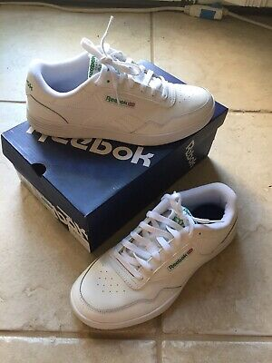 Reebok Club MEMT White Green  Wide 4E Mens size 7.5 Sneakers Shoes V70198