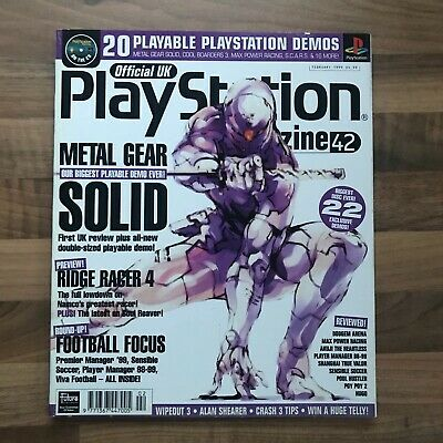 Official UK PlayStation Magazine Issue 42 Feb 1999 Metal Gear Solid Ridge Racer